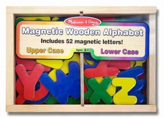 Wooden Magnetic Alphabet Letters Melissa and Doug Item 448 Ages 3