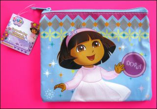 Bulk Lot x 10 Dora The Explorer Girls Cosmetic Beauty Bags New Small 12 5cm Size
