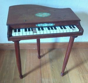 Baby Grand Piano Wooden Childs Kids Vintage Japan Old Antique Musical Toy