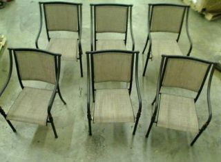 Hampton Bay Andrews Patio Dining Chair Set 6 Chairs Only TADD