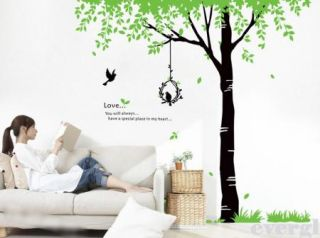 New Birds' Song Tree Removable PVC Wall Sticker Home Decor Room Decal Large Size
