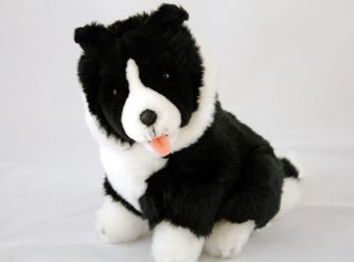 "Border Collie Dog Soft Plush Toys Stuffed Toy New 'Pepsi' New 9"" 23cm Tall"