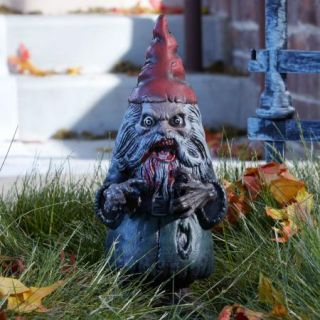 Zombie Garden Gnome Scary Outdoor Yard Spooky Halloween Prop Decoration New