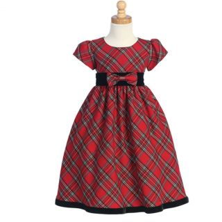 Girls Red Holiday Dress 6