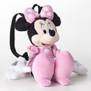 "Disney Mickey Minnie Plush with Pink Roll Backpack 18"" for Kids Brand New"