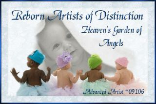 Reborn Fake Baby Girl Doll M Fagan Easton Sculpt by Heavens Garden of Angels