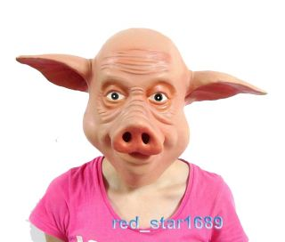 Lifelike Wild Boar Pig Head Mask Creepy Halloween Costume Theater Prop Latex
