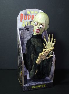 Pop Eye Mechanical Zombie Puppet Halloween Prop New