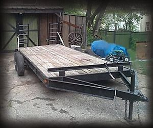 Heavy Duty Car Hauler Trailer Dual Axle $550 Battle Creek