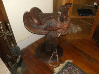 Western Saddle Bar Stool Furniture Western Decor Nice Look Here