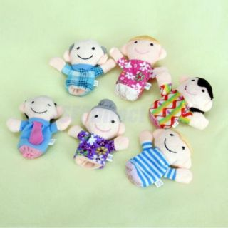 6 People Family Finger Puppets Fancy Educational Toy Set Boy Girl Kids Xmas Gift