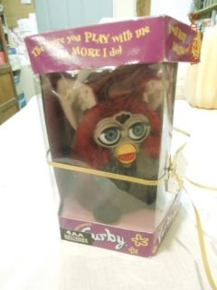Red Wolf Furby with Grey Eyes Generation 7 1999 New in Box