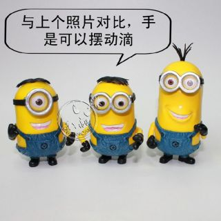 3 Set Despicable Me Minion Stuart Tim Dave Talking Laughing Action Figure Doll