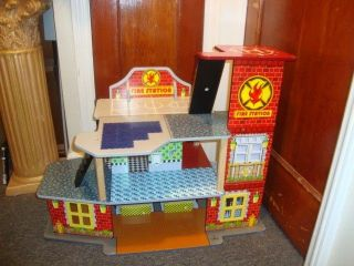 KidKraft Wooden Firehouse with Figures Fire Truck Furniture Helicopter and More