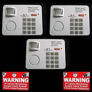 Lot Home Security System Door Motion Sensor Monitor Alarm Keypad Warning Sticker