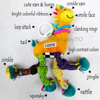 Infant Baby Kid Child Lamaze Giraffe Rattle Squeaky Developmental Plush Toy Doll