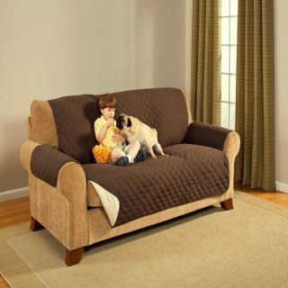 Reversible Brown and Beige Couch Chair Sofa Furniture Protector Pet Cover