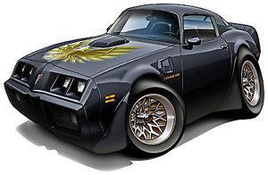 1979 Pontiac T A Trans Am Muscle Car Cartoon Wall Graphic Vinyl Decal Home Decor