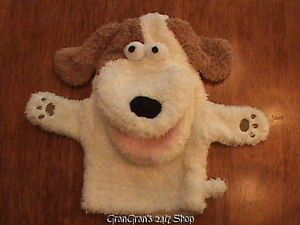 Pottery Barn Kids Puppy Dog Hand Puppet Soft Terry Plush Animal Doll Toy 9""