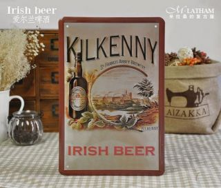 Kilkenny Irish Beer Tin Metal Sign Bar Pub Home Fashion Wall Decor S121