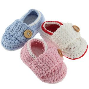 Lovely Cute Handmade Crochet Shoes Newborn Baby Boy Girl Photograph New