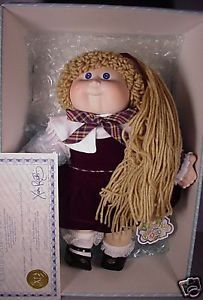 Vintage 1985 Cabbage Patch Kids Doll CPK Blonde Hair Porcelain Limited Edit