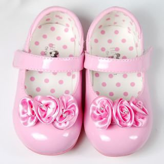 New Kids Girl Pink Flower Mary Jane Shoes Sz 5 6 7 8
