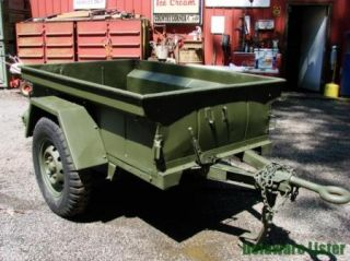 Military Truck Jeep M151 M416 1 4 Ton Utility Cargo Trailer 1967