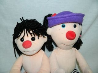 "2002 The Big Comfy Couch Plush 20"" Loonette 17"" Molly Doll Stuffed Dolls Set"