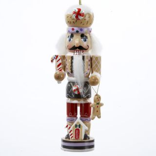 "Kurt Adler 5"" Miniature Wooden Gingerbread Nutcracker Christmas Ornament C0134"