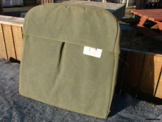 Military Truck Vehicle M35 and 5 Ton Canvas Drivers Seat Backrest Cusion