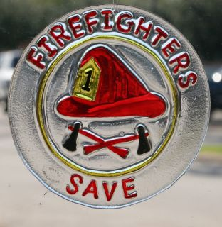 Christmas Kurt Adler Firefighters Save Glass Ornament