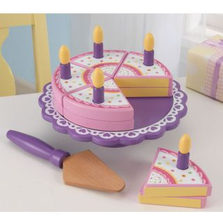 KidKraft Wooden Toy Birthday Cake Set from Brookstone