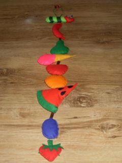 Very Hungry Caterpillar Nursery Children's Decoration Garland Mobile Baby Room