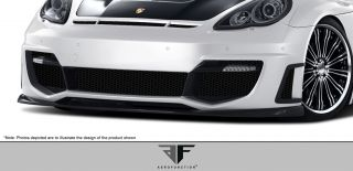10 13 Porcshe Panamera Aero Function AF 1 Wide Front Bumper LED Cover Body Kit