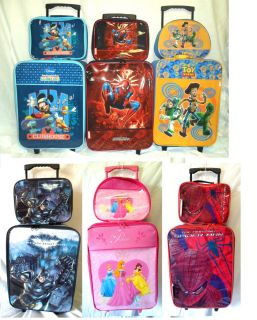 Disney Kids Boys Girls Cabin Trolley Case Wheeled Bag Suitcase Hand Luggage