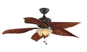 "Hampton Bay Antigua Plus 56"" Lighted Ceiling Fan Bronze"