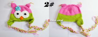 Cute Baby Child Girls Boys Kids Toddler Crochet Handmade Owl Beanie Hat Cap
