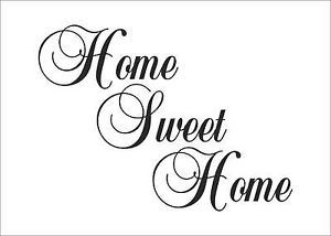 Home Sweet Home Quotes Decal Sticker Vinyl Wall Art Home Decoration HSH1