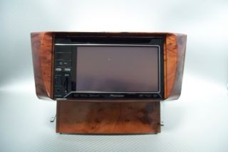 Lexus LS430 2001 2006 Wood Grain Double DIN Radio Installation Kit w Brackets