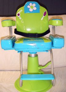 "Our Generation Salon Chair for 18"" Doll Aqua Lime Green"