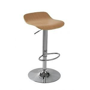 Wood Hydraulic Lift Adjustable Height Swivel Counter Bar Stool Chair 4010