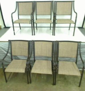 Hampton Bay Andrews Patio Dining Set 6 Chairs Only