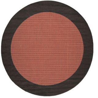Couristan Recife Checkered Field Terra Cotta Rug