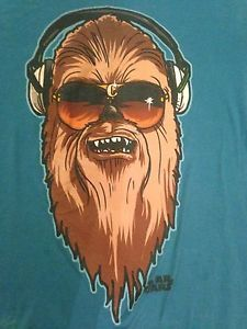 Chewbacca Headphones Glasses Medium Shirt Bling Star Wars Chewie Hip Hop