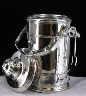 Art Deco Sterling Silver Ice Bucket by Cartier