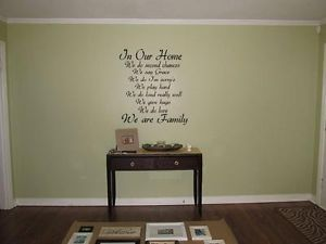 "In Our Home We do Vinyl Wall Art Decal Family Quote Lettering Words 24"" x 36"""