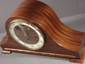 1930s Welby Mantel Clock Black Forest Case Nice Chimes Two Jewel Movement