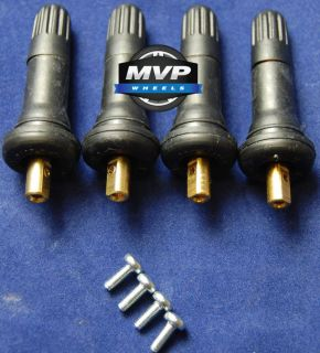 Set of Four 4 Replacement TPMS Tire Pressure Monitoring Sensor Valve Stem New