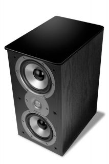 New Polk Audio TSI 200 Home Theater Bookshelf Speakers TSI200 Stereo Pair Black